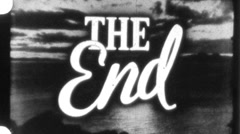 """THE END"" Vintage 8mm Film Leader Texture Loop 1117 Stock Footage"