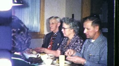 Family Dinner Circa 1957 (Vintage 8mm Home Movie Footage) 1116 Stock Footage