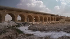 Beer Sheva Ottoman bridge 2 Stock Footage