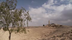 Monument to the Negev Brigade timelapse 2 Stock Footage