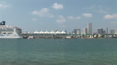 WorldClips-Miami Cruise Port Stock Footage