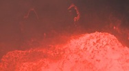 Stock Video Footage of Amazing Boiling Lava Lake HD Footage