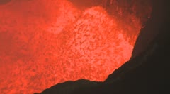 Amazing Volcano Eruption Boiling Lava Lake  Stock Footage