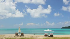 Paradise island beach timelapse - stock footage