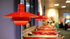 Table light at restaurant Stock Footage