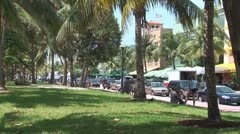 WorldClips-South Beach Park-ws Stock Footage