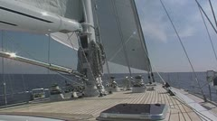 Sailing yacht 92 n.sound Stock Footage