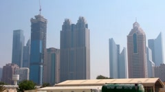 Dubai downtown. United arab emirates Stock Footage