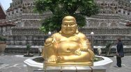 Big Golden Buddha at Wat Arun Stock Footage