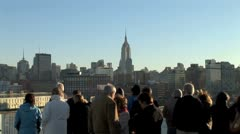 WorldClips-Cruisers View Empire State Building-zoom Stock Footage