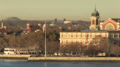 WorldClips-Ellis Island-POV - stock footage