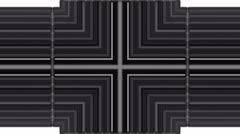 Scroll tilt metal panel in space,flowing blinds,web tech board. Stock Footage