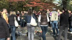 WorldClips-Imagine Memorial Tourists-zoom - stock footage