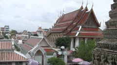 Phra ubosot, Wat Arun Temple, Bangkok Stock Footage