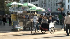 WorldClips-NYC Bike Carriage Tourists Stock Footage