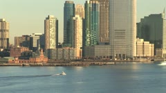 WorldClips-NYC South Skyline-zoom - stock footage