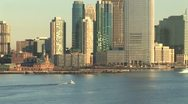 WorldClips-NYC South Skyline-zoom Stock Footage