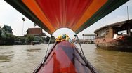 Thai long-tail boat Stock Footage