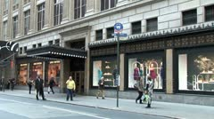 WorldClips-NYC-Bloomingdale's-zooms Stock Footage