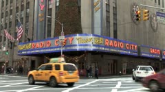 WorldClips-Radio City-zoom-tilt Stock Footage