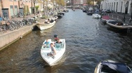 Boating in Leiden, Holland Stock Footage
