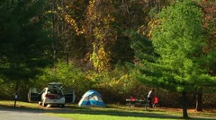 Typical camping scene (LP-Voorhees-056a) Stock Footage