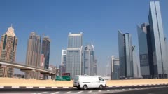 Dubai downtown. United arab emirates - stock footage