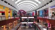 Dubai Mall from inside with buyers in Dubai, UAE Stock Footage