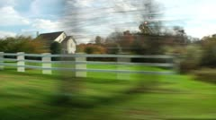 Vehicle shot of Fall landscape (LP-Voorhees-130) Stock Footage