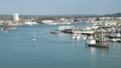 River Itchen at Southampton Stock Footage