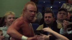 WWE & TNA wrestler Billy Gunn/Kip James greets the fans Stock Footage