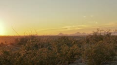HD 30p Arizona Sunset over the Sonora Desert Time Lapse Stock Footage