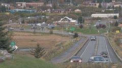 Homer Traffic - Beluga Slough Road Stock Footage