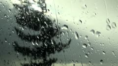 Storm and Window Stock Footage