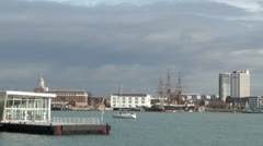 Gosport and Portsmouth - stock footage