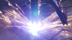 Plasma cutting Stock Footage