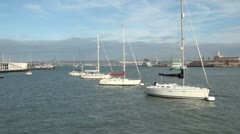Portsmouth and Gosport Harbour Stock Footage