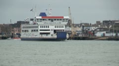 Isle of Wight Ferry Timelapse Stock Footage