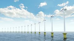 Offshore wind farm Stock Footage