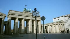 Brandenburg Gate Pariser Place Stock Footage