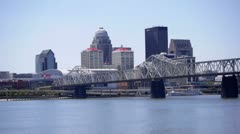 Louisville KY Skyline Static Stock Footage