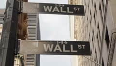 Wall Street Sign - stock footage