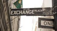 Exchange Plaza Sign Stock Footage