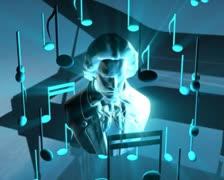 3D Abstract Musical Dream Loop Stock Footage