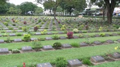War Graves Cemetery Stock Footage