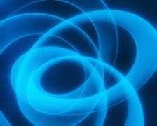 3D Abstract Coil or Ring Loop - stock footage