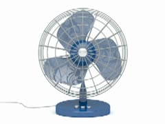 Electric fan WEB SMALL Stock Footage