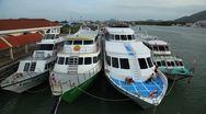 Cruise Ship in Phuket Island, Amazing Thailand, Leaving from Harbor, Port Stock Footage