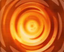 3D Abstract Hypnotic Orange Puddle Loop Stock Footage