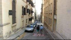 Streets of Valletta Stock Footage